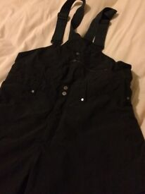 Helly Hansen black ski salopettes - good quality and excellent condition