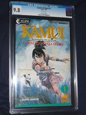 Legend Of Kamui  1 Cgc 9 8  May 12  1987  Eclipse International  Viz Comics