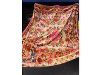 Bedspread vintage Floral Velvet Bedspread