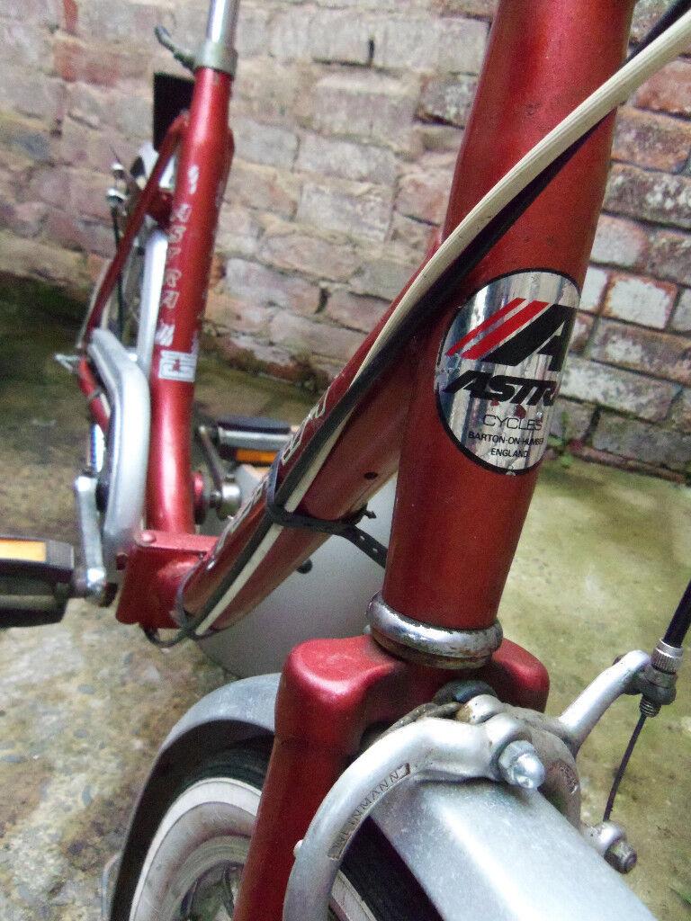 Astra 3 speed British made folding shopper bicycle 20 inch bike frame