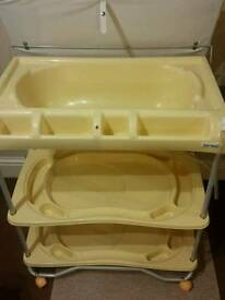 Baby changing trolley with built in bath in excellent condition