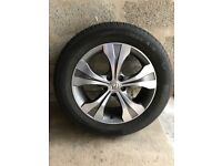 "Genuine Honda 18"" Alloy wheel with tyre"