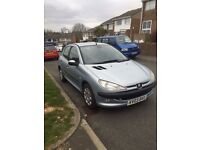 Peugeot 206 Silver 5 Door Manual Hatchback 2003