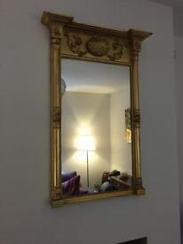Regency gilt pier mirror. Antique