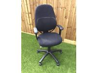 Office VDU Swivel Chair Black with arms