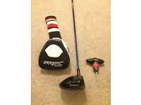 Titleist 910 D3 driver with upgraded shaft, original headcover and surefit torque wrench