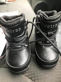 Baby size 5 firetrap boots un worn will take 18