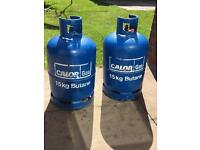 15kg Calour Gas Bottle's £20 for the pair