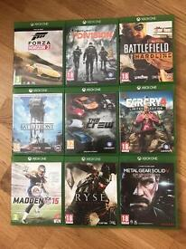 Xbox One Games For Sale, all in good condition