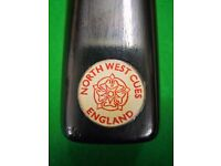 """North West """"Kevin Muncaster"""" Early Red Glue 3/4 Snooker/Pool Cue"""