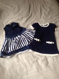 2 x Baby Girl Dresses
