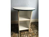 White round table with storage