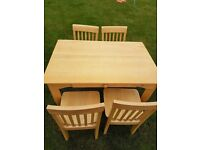 Aspace children's table and chairs.