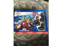 PS4 Disney infinity + 5 figures