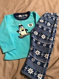 Boys fleece pyjamas aged 2-3