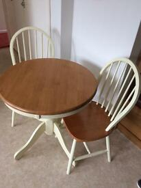Cotswold table & 2 chairs