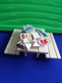 Sylvanian families- Picnic set- Includes table, benches and accesories-from no smoking, no pets home