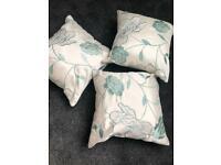 Duck egg blue and cream cushions