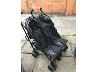 Double pushchair for sale