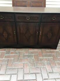 Dark oak side board