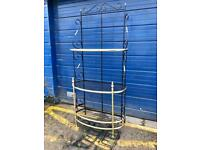 VINTAGE IRON AND BRASS CASCADING SHELVES/ BOOKCASE/ BAKERS STAND £95 - ANTIQUE VINTAGE RETRO