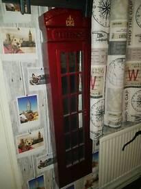 Large London red telephone box mirror