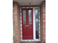 this is for a composite front door in a UPVC