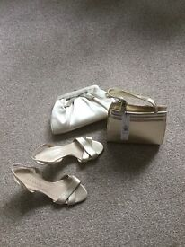 Evening bags and matching shoes