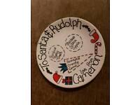Personalised Cameron Santa plate