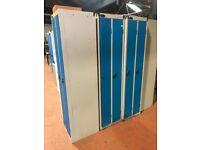Blue Lockers (2 in 1 Bay)