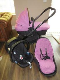 iCandy Strawberry 2 Travel System pink smoothie