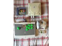 Complete sega Dreamcast set up + arcade stick
