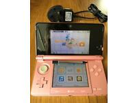 Nintendo 3DS Pink with stylus and charger