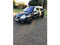 Renault Clio 1.2 2004 dynamique black van cheap good spec