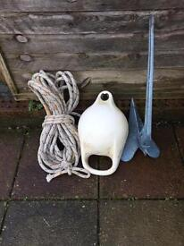 Plough anchor pick up bouy and nylon rope