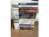 Xbox 360, 1 controller and various games