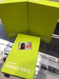 SAMSUNG GALAXY TAB E WIFI + CELLULAR UNLOCKED BRAND NEW BOXED COMES WITH SHOP WARRANTY AND RECEIPT