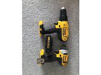 Dewalt XR Impact driver and Combi drill
