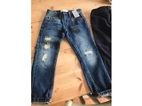 BNWT four pairs of children's 4/5 5/6 jeans