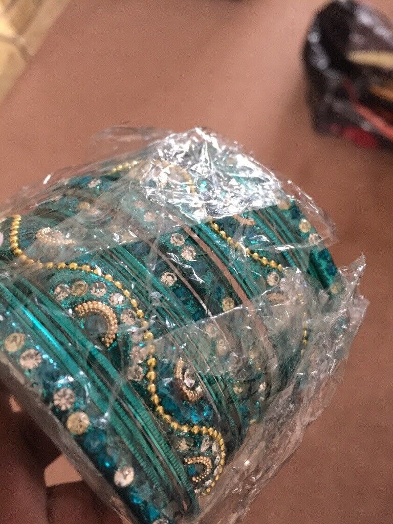 Turquoise green bangles