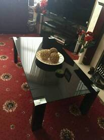 Large, glass coffee table