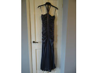 Elegant silver evening/ bridesmaid dress - size 10