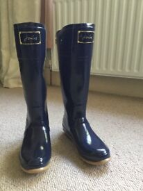 JOULES EVEDON Navy Size 8 UK Ladies Wellington boots in fantastic like new condition
