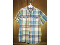 Boy's JOHN ROCHA blue check shirt : age 9 years