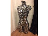 Large mirrored tiled mosaic mannequin