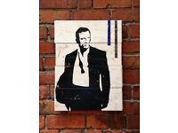 James Bond 53 x 48cm - Handmade and Real Wood