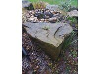 Green Granite Rockery Stones