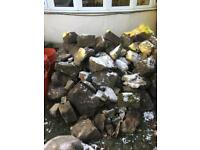 Dry stone wall stones