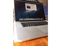 2012 Macbook Pro i7, 8gb, 256 ssd, 15 inch, Retina, a1398