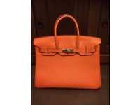 Hermes Birking handbag orange bag